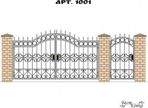 Кованые ворота - 1001