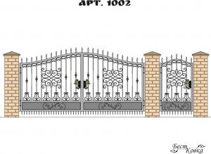 Кованые ворота - 1002