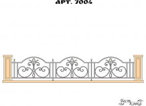 Кованые ограды - 7004