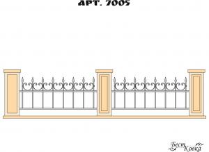 Кованые ограды - 7005