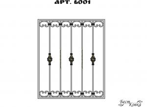 Кованые решетки - 6001
