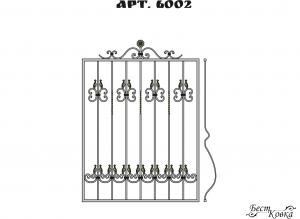 Кованые решетки - 6002