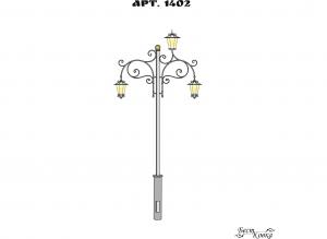 Кованые фонари - 1402