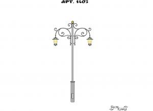 Кованые фонари - 1403