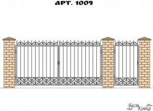 Кованые ворота - 1009