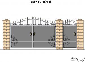 Кованые ворота - 1010
