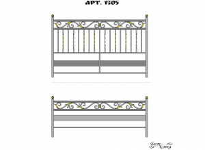 Кованые кровати - 1305