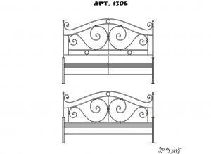 Кованые кровати - 1306