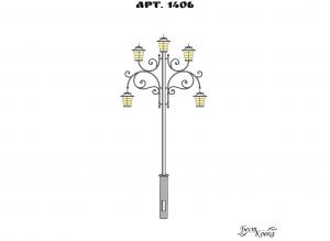 Кованые фонари - 1406